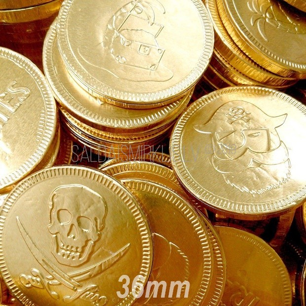 Šokolādes monēta 36mm ar logo
