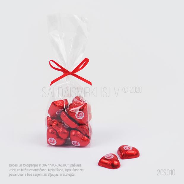 Šokolādes sirsniņas 5g ar logo