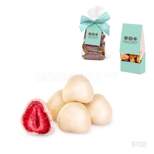 Zemenes baltajā šokolādē 150g