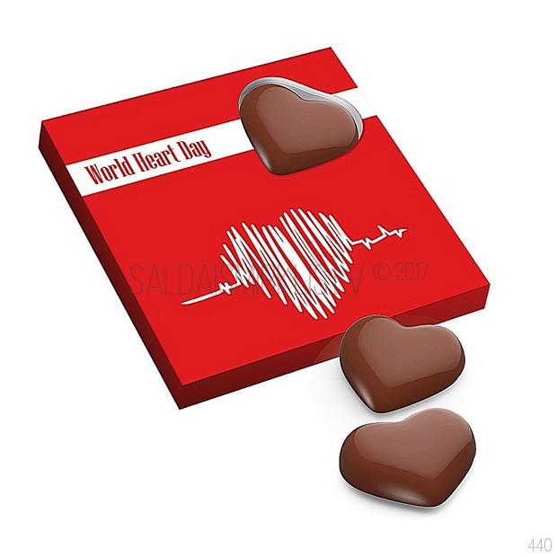4 šokolādes sirsniņas kastītē 48g