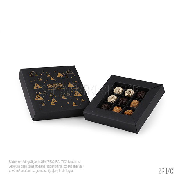 9 šokolādes trifeles kastītē ZR1-C
