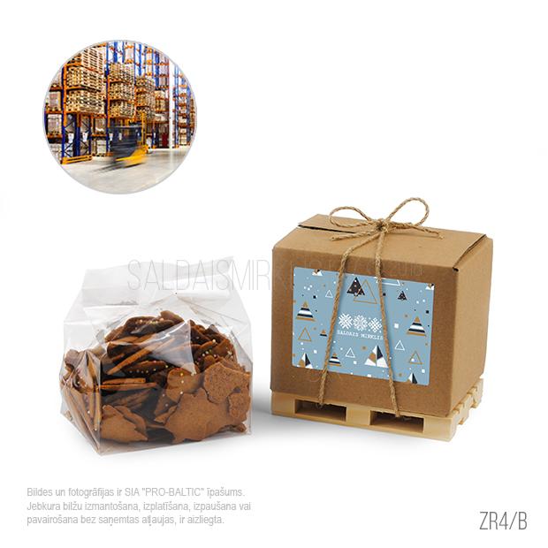 Kraukšķīgas piparkūkas uz mini koka paletes ZR4-B