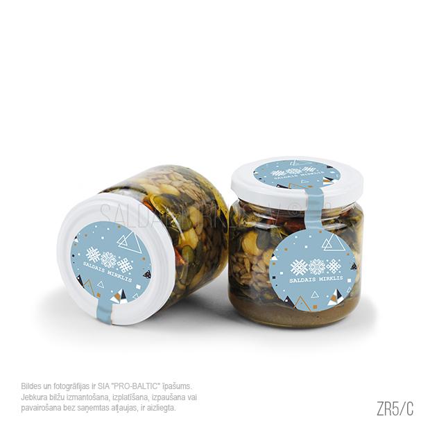 Burciņa ar riekstu un sēklu maisījums medū ZR5-C