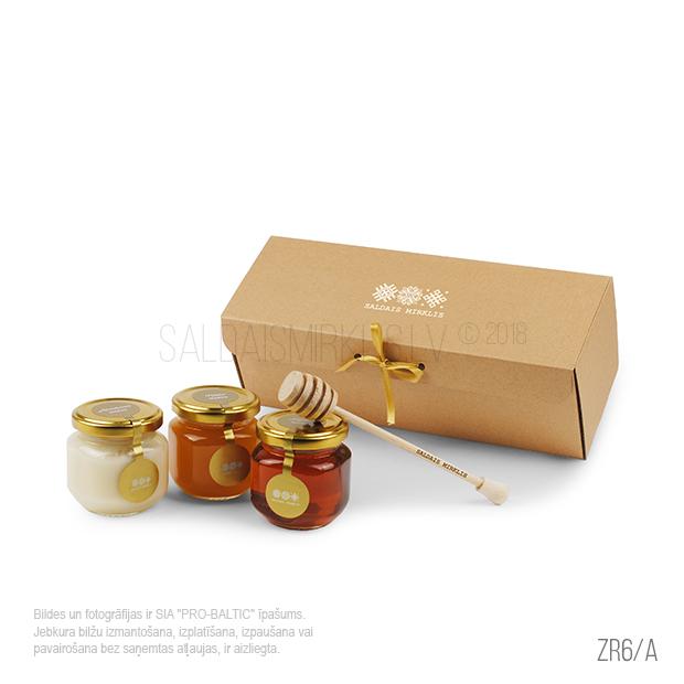 3 veidu medus burciņu komplekts ZR6-A