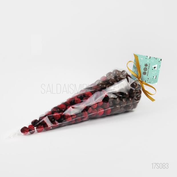 Kaltētas dzērvenes ar dzērvenēm šokolādē 17S083