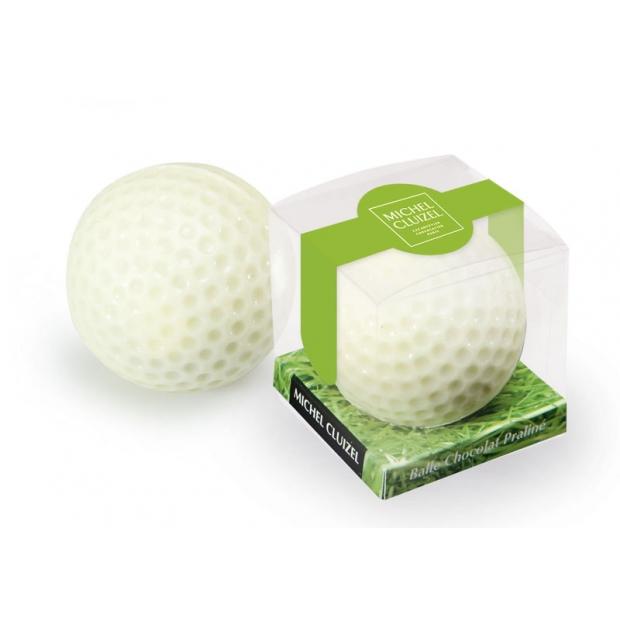 Golfa bumbiņa baltajā šokolādē