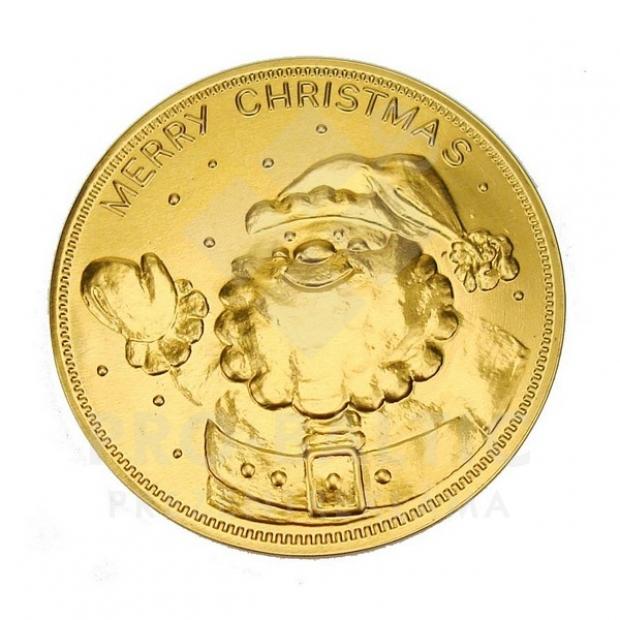 Šokolādes medaļa ar Ziemassvētku dizainu, 75 mm