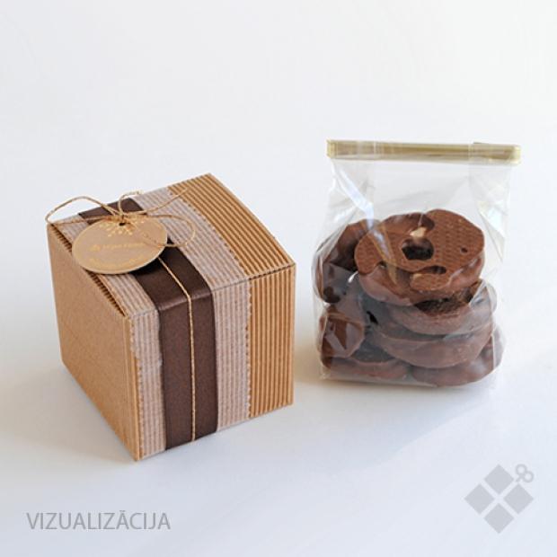 Augļi un ogas šokolādes glazūrā 100 g