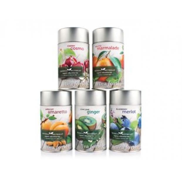 Herbal retreat beramās tējas lapiņas metāla kārbās 100g.